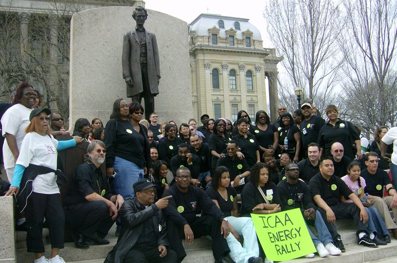 IACAA rally at the Illinois State Capitol